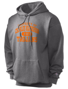 Charles Henderson Middle School Trojans Champion Men's Hooded Sweatshirt