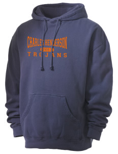 Charles Henderson Middle School Trojans Men's 80/20 Pigment Dyed Hooded Sweatshirt