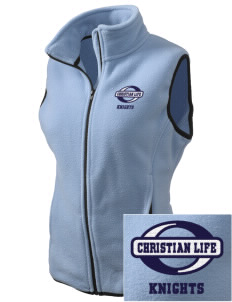 Christian Life School Knights Embroidered Women's Fleece Vest
