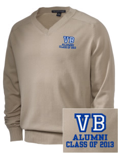 Victory Baptist Academy Eagles Embroidered Men's V-Neck Sweater