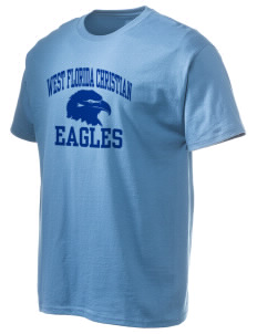 West Florida Christian School Eagles Hanes Men's 6 oz Tagless T-shirt