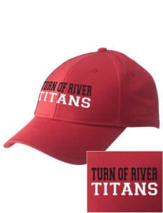 Turn Of River Middle School Titans  Embroidered New Era Adjustable Structured Cap