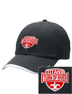 Turn Of River Middle School Titans Embroidered Nike Dri-FIT Swoosh Perforated Cap