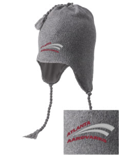 Atlanta Adventist Academy Aardvarks Embroidered Knit Hat with Earflaps