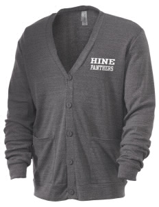 Hine Junior High School Panthers Men's 5.6 oz Triblend Cardigan