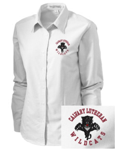 Calvary Lutheran School Wildcats Embroidered Women's Classic Oxford