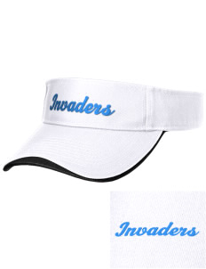 Summit High School Invaders Embroidered Binding Visor