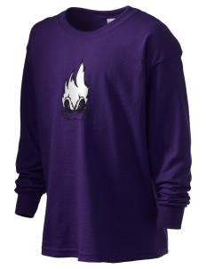 Carrboro High School Jaguars Kid's 6.1 oz Long Sleeve Ultra Cotton T-Shirt