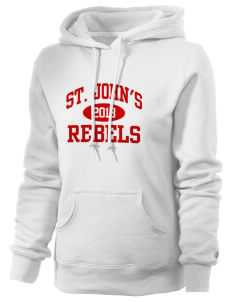 St. John's Elementary School Rebels Russell Women's Pro Cotton Fleece Hooded Sweatshirt
