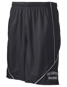 "New Age Academy Learning Institute Dragons Men's Pocicharge Mesh Reversible Short, 9"" Inseam"