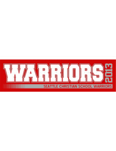 "Seattle Christian School Warriors Bumper Sticker 11"" x 3"""