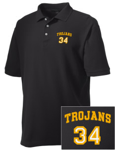 Bergan High School Trojans Embroidered Men's Performance Plus Pique Polo