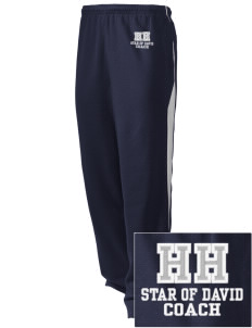 Hillel Hebrew Academy Star Of David Embroidered Holloway Men's Pivot Warm Up Pants