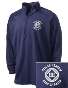 Hillel Hebrew Academy Star Of David Embroidered Men's Stretched Half Zip Pullover