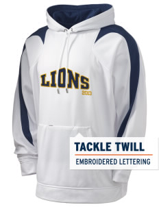 Zion Lutheran School Lions Holloway Men's Sports Fleece Hooded Sweatshirt with Tackle Twill