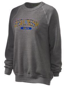 First Lutheran School Colts Unisex Alternative Eco-Fleece Raglan Sweatshirt