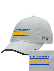 First Lutheran School Colts Embroidered Nike Dri-FIT Swoosh Perforated Cap