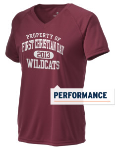 First Christian Day School Wildcats Holloway Women's Zoom Performance T-Shirt
