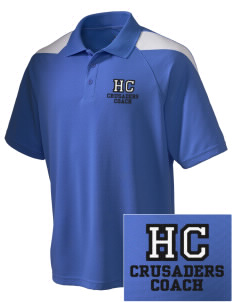 Holy Cross Crusaders Embroidered Holloway Men's Frequency Performance Pique Polo