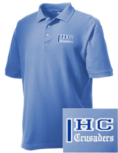 Holy Cross Crusaders Embroidered Men's Performance Plus Pique Polo