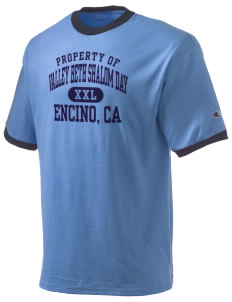 Valley Beth Shalom Day School Encino, CA Champion Men's Ringer T-Shirt