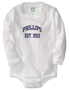 Phillips Academy Globes  Baby Long Sleeve 1-Piece with Shoulder Snaps