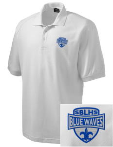South Bay Lutheran High School Blue Waves Embroidered Nike Men's Pique Knit Golf Polo