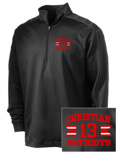 Christian Senior High School Patriots Embroidered Nike Men's Golf Dri-Fit 1/2 Zip