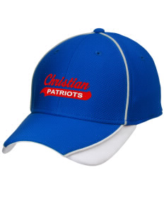 Christian Senior High School Patriots Embroidered New Era Contrast Piped Performance Cap