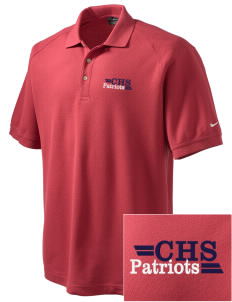 Christian Senior High School Patriots Embroidered Nike Men's Pique Knit Golf Polo