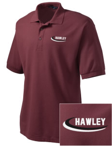 Hawley Middle School Bearcats Embroidered Men's Silk Touch Polo