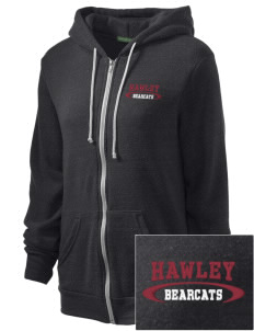 Hawley Middle School Bearcats Embroidered Alternative Unisex The Rocky Eco-Fleece Hooded Sweatshirt