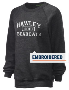 Hawley Middle School Bearcats Embroidered Unisex Alternative Eco-Fleece Raglan Sweatshirt