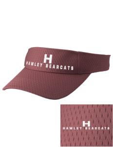 Hawley Middle School Bearcats Embroidered Woven Cotton Visor