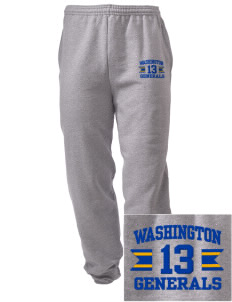 Washington School Generals Embroidered Men's Sweatpants with Pockets