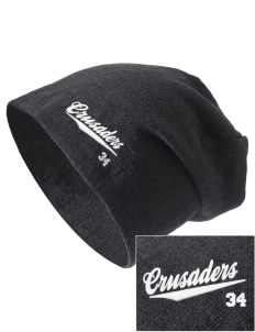 Trinity Lutheran School Crusaders Embroidered Slouch Beanie