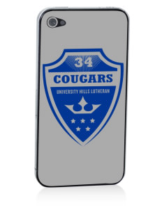 University Hills Lutheran School Cougars Apple iPhone 4/4S Skin