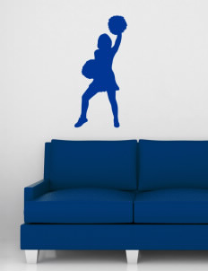 "University Hills Lutheran School Cougars Wall Silhouette Decal 20"" x 32"""