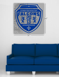 "Lutheran High School East Falcons Wall Poster Decal 36"" x 36"""