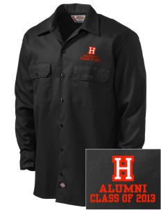 Hawaii Seasider Embroidered Dickies Men's Long-Sleeve Workshirt