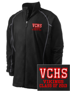 Valley Christian High School Vikings Embroidered Men's Nike Golf Full Zip Wind Jacket
