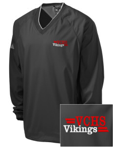 Valley Christian High School Vikings Embroidered adidas Men's ClimaProof V-Neck Wind Shirt