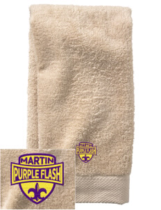 Martin High School Purple Flash  Embroidered Zero Twist Resort Hand Towel