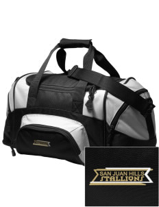 San Juan Hills High School Stallions Embroidered Small Colorblock Duffel