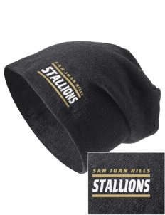San Juan Hills High School Stallions Embroidered Slouch Beanie