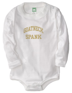 Goatneck High School Spank  Baby Long Sleeve 1-Piece with Shoulder Snaps