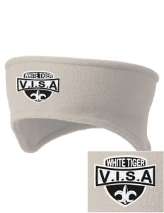 V.I.S.A White Tiger Embroidered Fleece Headband