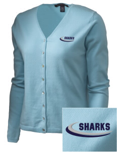 Puget Sound Adventist Academy Sharks Embroidered Women's Stretch Cardigan Sweater