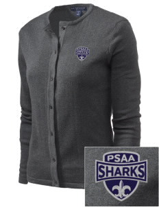 Puget Sound Adventist Academy Sharks Embroidered Women's Cardigan Sweater