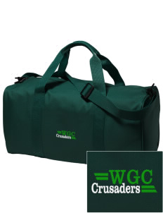 Watson Groen Christian School Crusaders Embroidered Holloway Duffel Bag